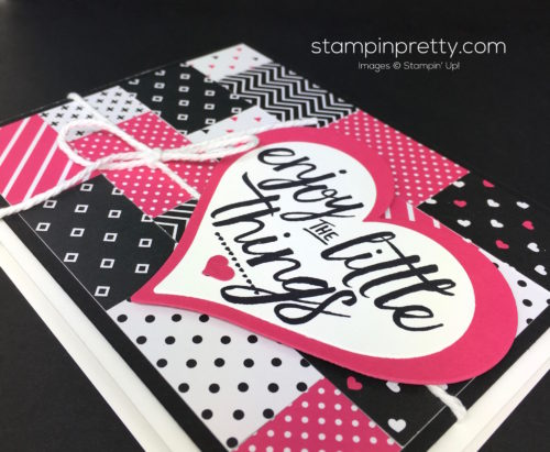 Stampin Up Pop of Pink Layering Love Cards - Mary Fish StampinUp