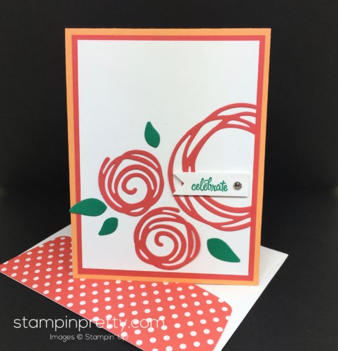 Stampin Up Swirly Scribbles Birthday Card & Envelope - Mary Fish StampinUp