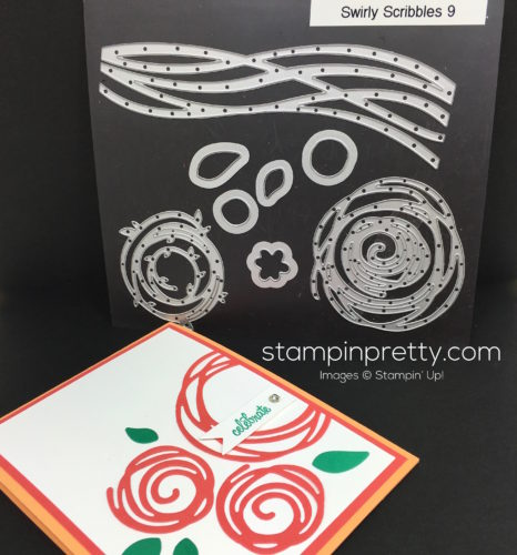 Stampin Up Swirly Scribbles Dies Birthday Card - Mary Fish StampinUp