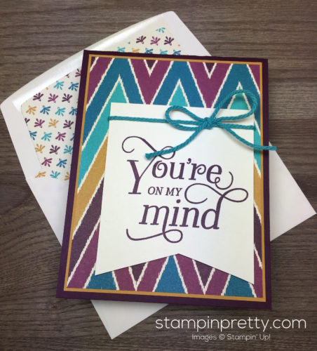 Stampin Up That Thing You Did Sympathy Card Envelope Liner - Mary Fish StampinUp
