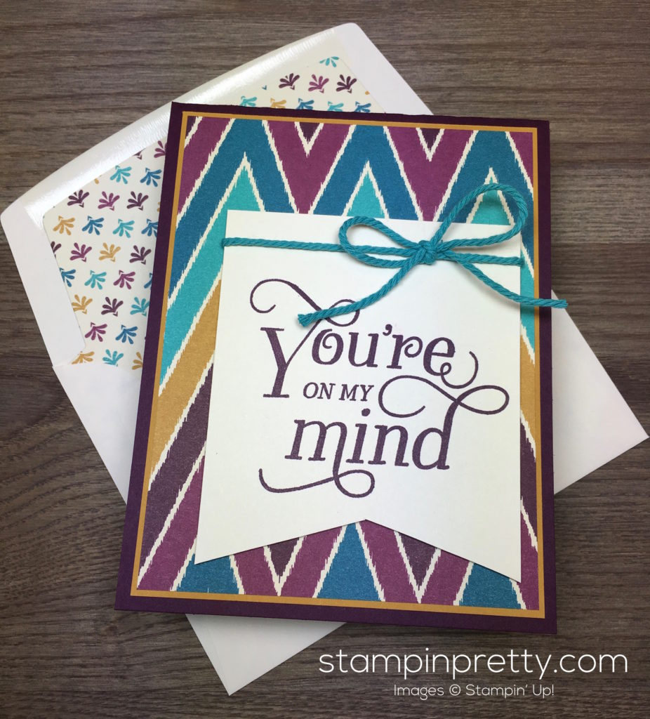 Simple saturday bohemian card stampin 39 pretty for Mary fish stampin up