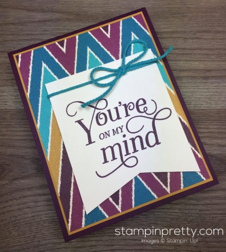 Stampin Up That Thing You Did Sympathy Card - Mary Fish StampinUp