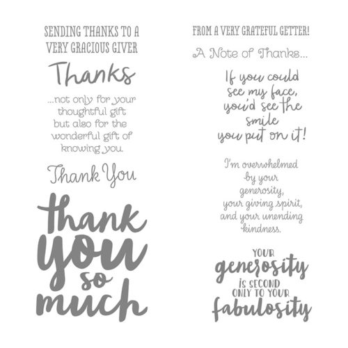 Stampin Up Thankful Thoughts