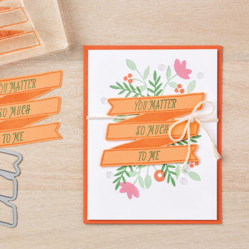 Stampin Up Bunch of Banners Framelits Banners for You