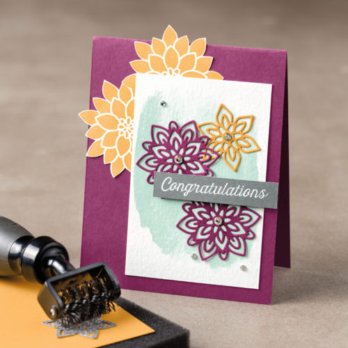 Flourishing Phrases Stamp Set Flourish Thinlits Dies