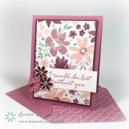 Pals Paper Crafting Card Ideas Blooms and Wishes Mary Fish Stampin Pretty StampinUp