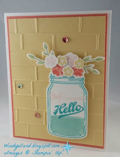 Pals Paper Crafting Card Ideas Jar of Love Mary Fish Stampin Pretty StampinUp