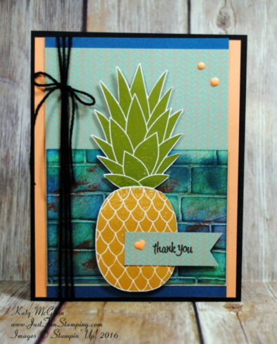 Pals Paper Crafting Card Ideas Pineapple Mary Fish Stampin Pretty StampinUp