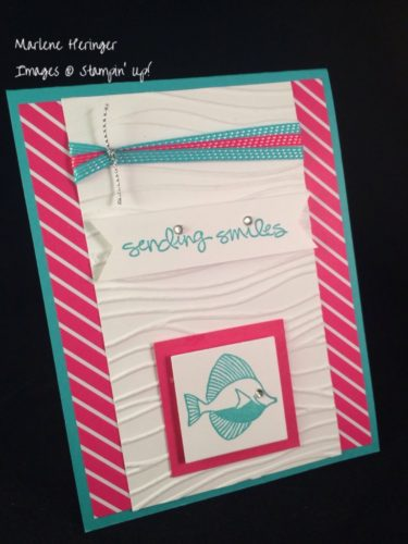 Pals Paper Crafting Card Ideas Seaside Mary Fish Stampin Pretty StampinUp