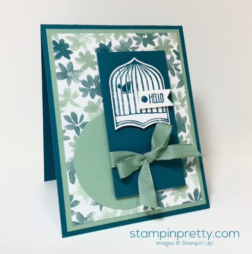 Stampin Up Badges & Banners Punch Card Idea - Mary Fish StampinUp