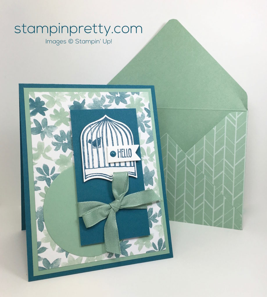 Say hello to badges banners stampin 39 pretty for Mary fish stampin up