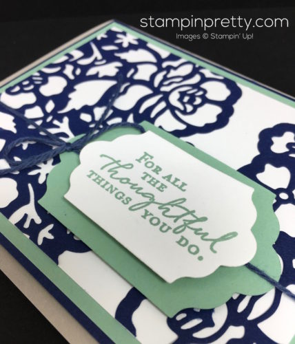 Stampin Up Floral Phrases Thinlits Die Thank You Card Idea - Mary Fish StampinUp