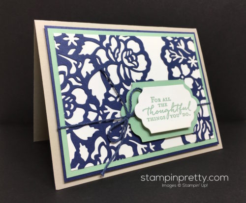 Stampin Up Floral Phrases Thinlits Dies Thank You Card - Mary Fish StampinUp