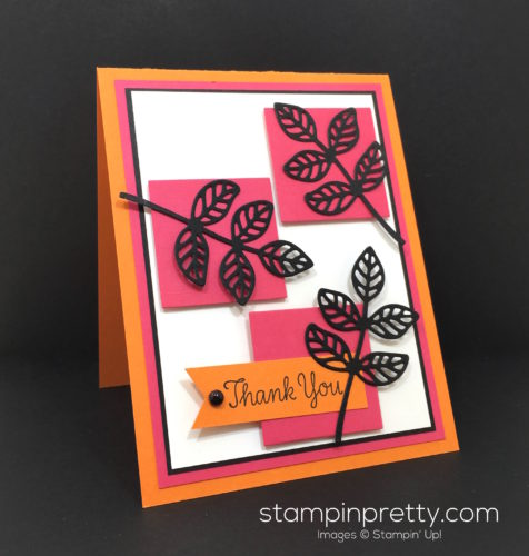 Stampin Up Flourish Thinlits Dies Thank You Card Idea - Mary Fish Stampin Pretty