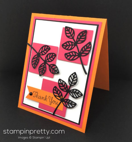 Stampin Up Flourish Thinlits Dies Thank You Card - Mary Fish Stampin Pretty