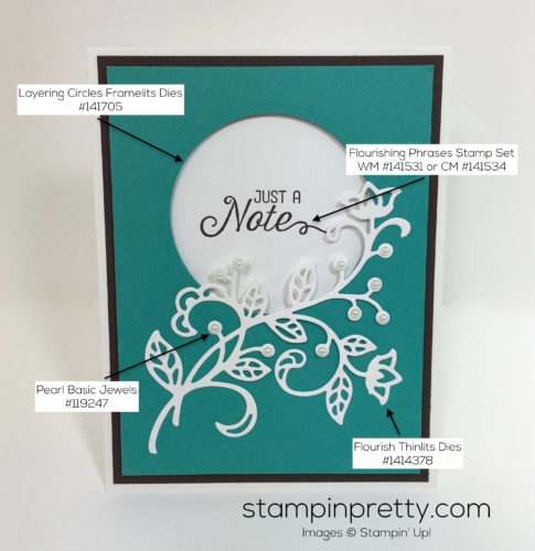 Stampin Up Flourishing Phrases & Flourish Thinlits Dies Card Ideas - Mary Fish StampinUp Supply List