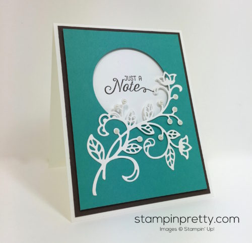 Stampin Up Flourishing Phrases & Flourish Thinlits Dies Card - Mary Fish StampinUp