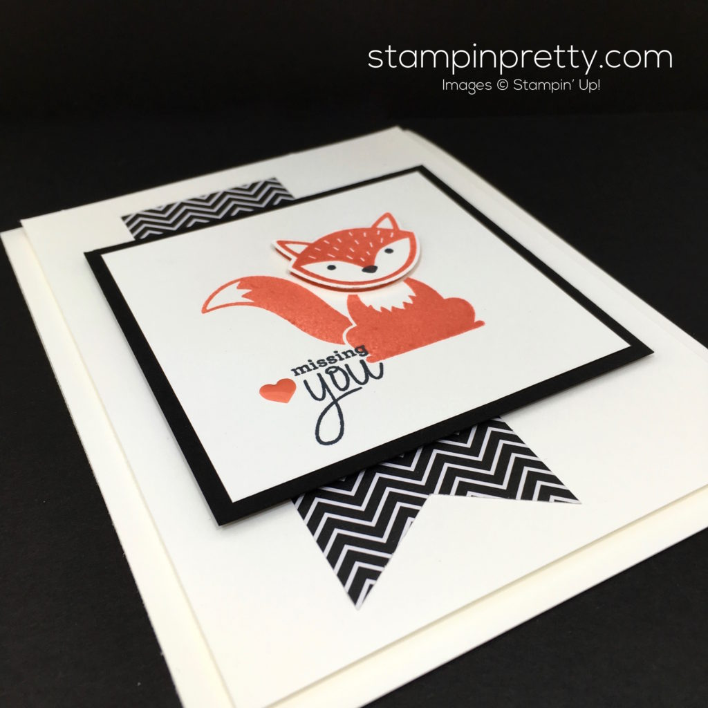 Stampin Up Foxy Friends & Fox Builder Punch Card Idea – Mary Fish ...