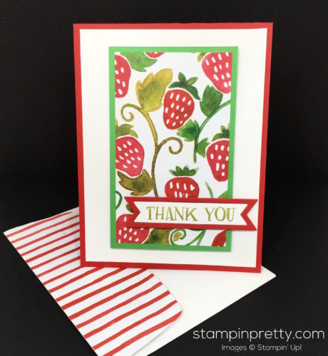 Stampin Up Fresh Fruit Stand Thank You Card Idea - Mary Fish StampinUp