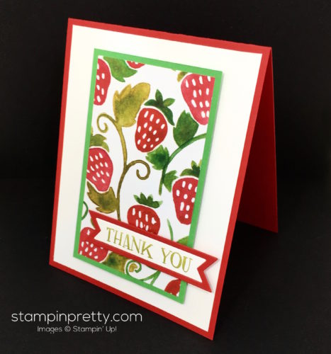 Stampin Up Fresh Fruit Stand Thank You Card Ideas - Mary Fish StampinUp