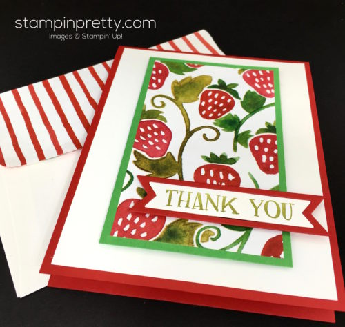 Stampin Up Fresh Fruit Stand Thank You Card - Mary Fish StampinUp