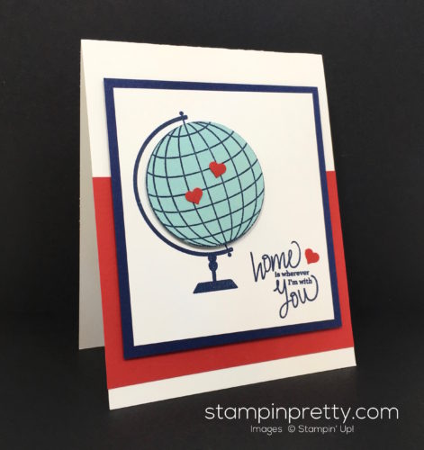 Stampin Up Places Youll Go World Globe Card Idea - Mary Fish