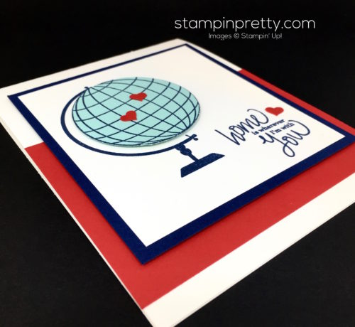 Stampin Up Places Youll Go World Globe Cards Idea - Mary Fish