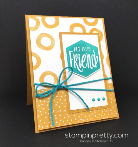 Stampin Up Serene Scenery & Scenic Saying Friend Card Idea - Mary Fish Stampin Pretty