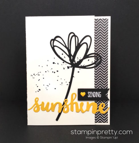 Stampin Up Sunshine Wishes & Sunshine Sayings Card - Mary Fish Stampin Pretty