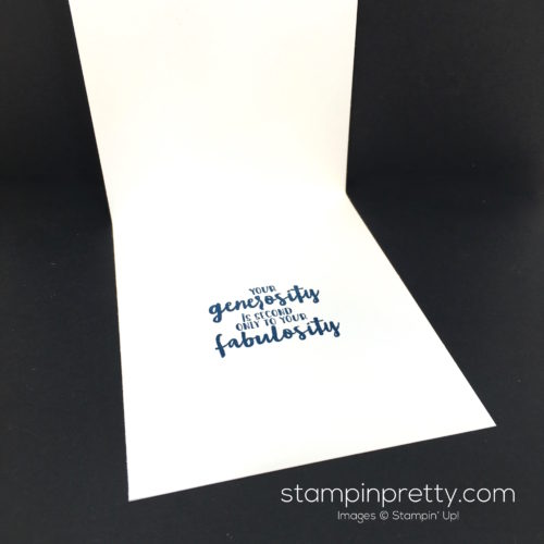 Stampin Up Thoughtful Thanks Thank You Card Idea - Mary Fish StampinUp Inside
