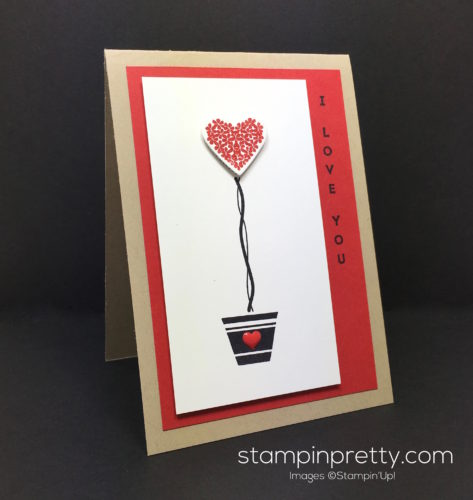 Stampin Up Vertical Greetings Love Card Idea - Mary Fish StampinUp