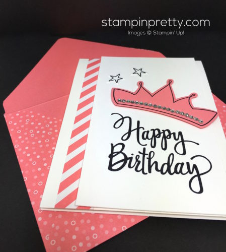 Stampin Up Wish Big Biggest Birthday Ever Card & Envelope - Mary Fish StampinUp