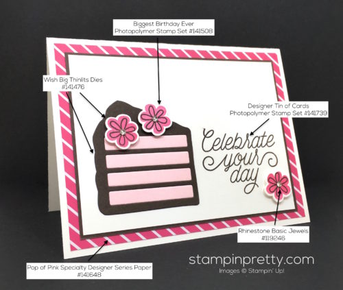 Stampin Up Wish Big Framelits Dies Birthday Card Idea - Mary Fish Stampin Pretty Supply List