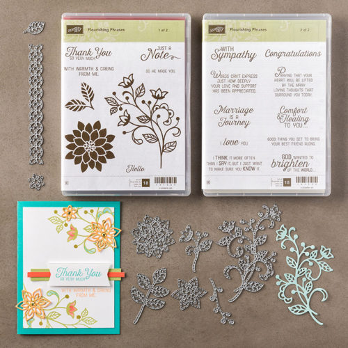 Flourish Thinlits Dies Flourishing Phrases Stampin Up