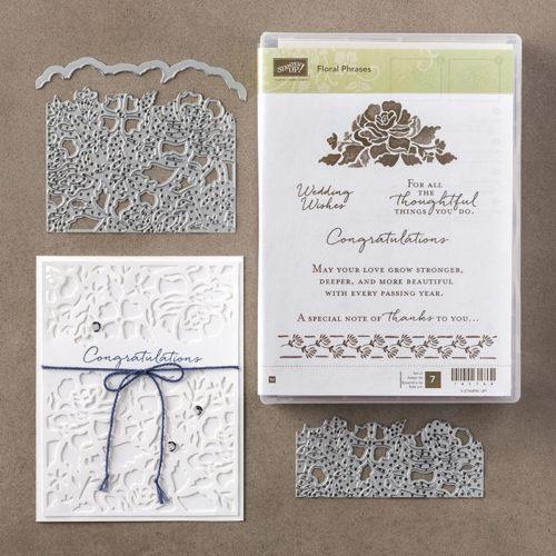 Floral Thinlits Dies Floral Phrases Stamp Set Bundle