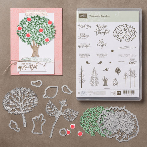 Stampin Up Beautiful Branches Thoughtful Thank You Card