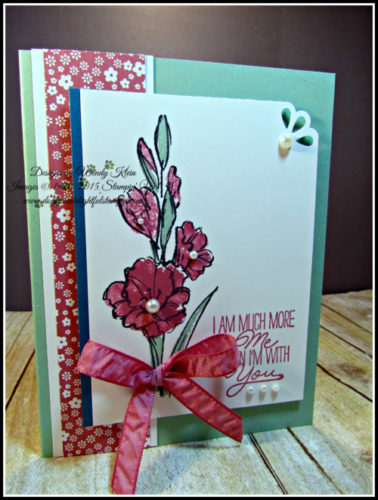 Pals Paper Crafting Card Ideas Wendy Klein Mary Fish Stampin Pretty StampinUp