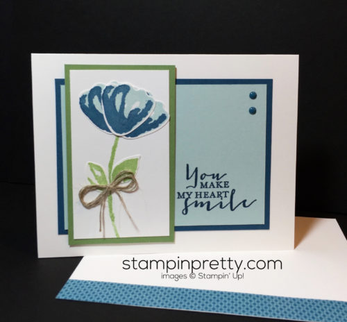 Stampin UP, Bunch of Blossoms Bundle, Love card idea-Mary Fish, stampinup