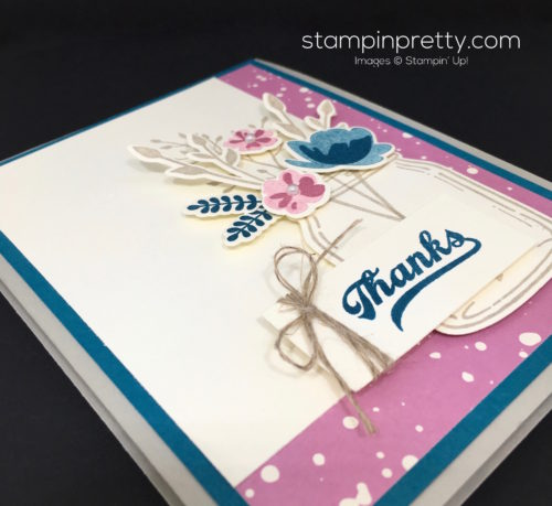 Stampin Up Everyday Jars of Love Thank You Card Idea - Mary Fish StampinUp