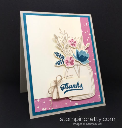Stampin Up Everyday Jars of Love Thank You Card - Mary Fish StampinUp
