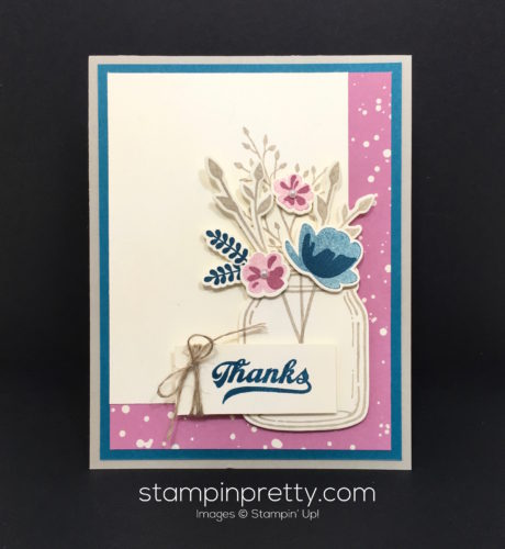 Stampin Up Everyday Jars of Love Thank You Cards Ideas - Mary Fish StampinUp