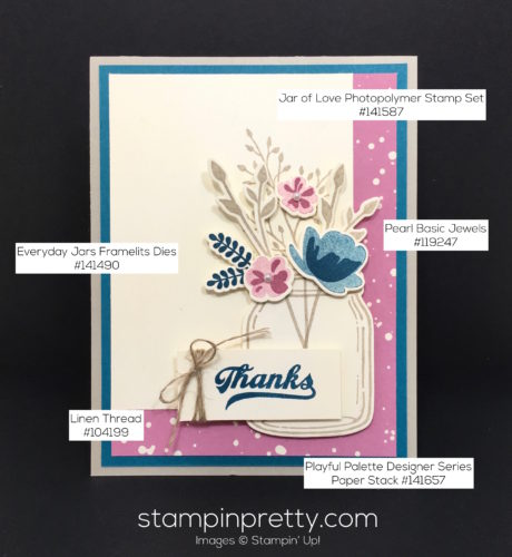 Stampin Up Everyday Jars of Love Thank You Cards Ideas - Mary Fish StampinUp Supply List