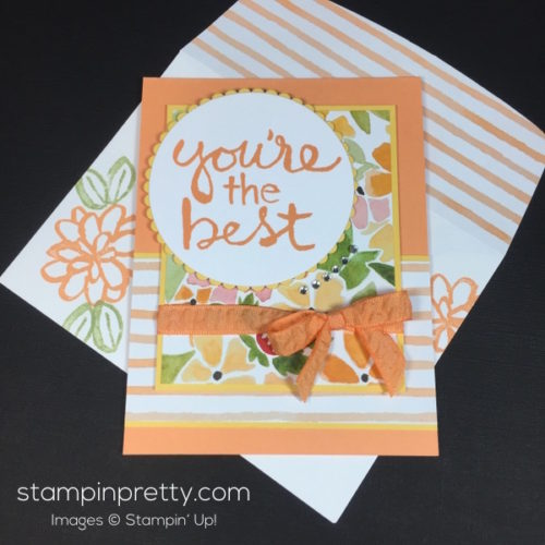Stampin Up Fruit Stand Watercolor Words Thank You Card - StampinUp