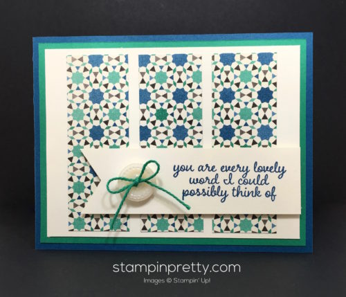 Stampin Up Love & Affection Moroccan Thank You Card Idea - Mary Fish StampinUp