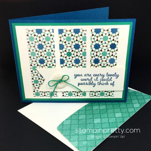 Stampin Up Love & Affection Moroccan Thank You Card - Mary Fish StampinUp