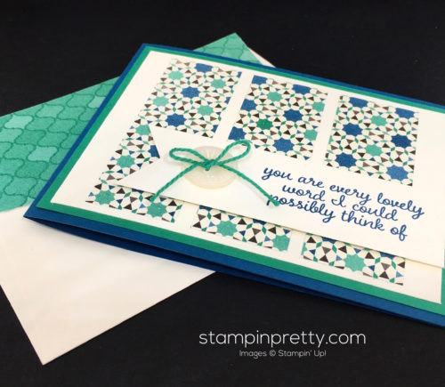Stampin Up Love & Affection Moroccan Thank You Card - Mary Fish StampinUp Envelope