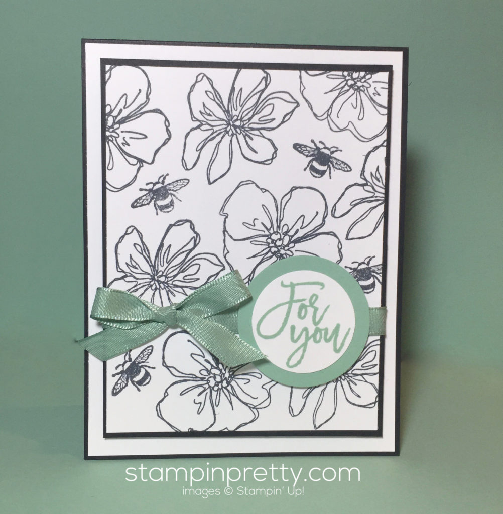 Penned painted just for you stampin 39 pretty for Mary fish stampin up