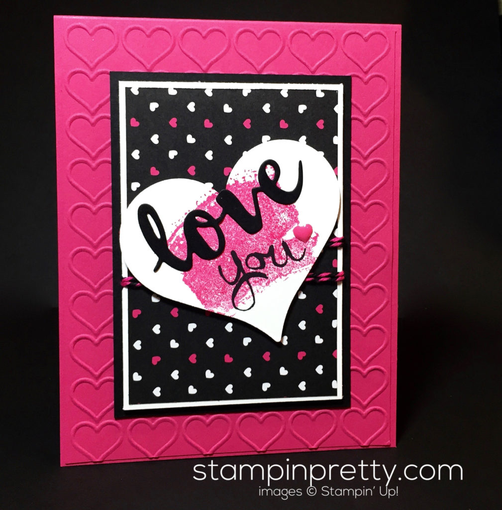 Work of art love card stampin 39 pretty for Mary fish stampin up