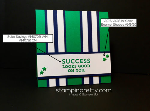 Stampin Up, Suite Sayings, Congrats card idea-Mary Fish, stampinup