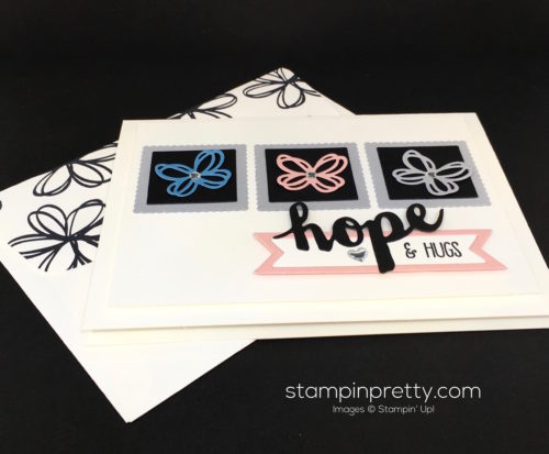 Stampin Up Sunshine Sayings Wishes Sympathy Card Idea & Envelope - Mary Fish StampinUp